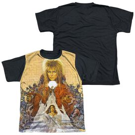 Labyrinth Cover Art Short Sleeve Youth Front Black Back T-Shirt