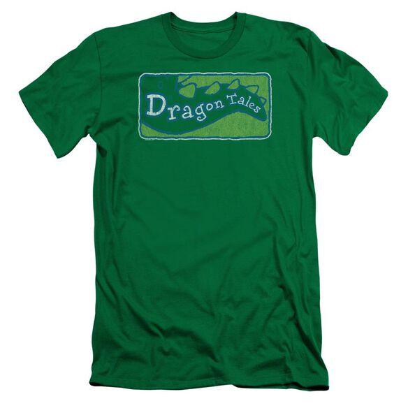 Dragon Tales Logo Distressed Short Sleeve Adult Kelly T-Shirt