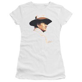 John Wayne Painted Profile Short Sleeve Junior Sheer T-Shirt