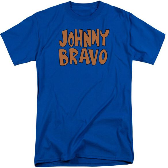Johnny Bravo Jb Logo Short Sleeve Adult Tall Royal T-Shirt