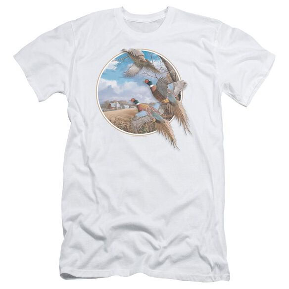 Wildlife October Memories Pheasants Short Sleeve Adult T-Shirt