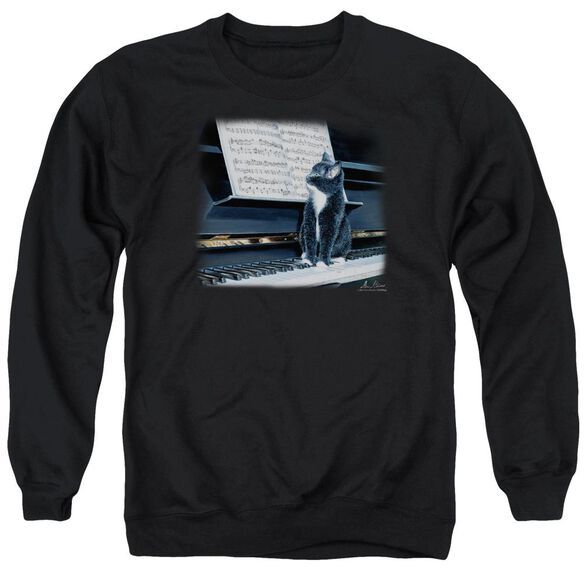 Wildlife Kitten On The Keys Adult Crewneck Sweatshirt
