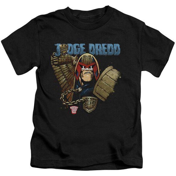 Judge Dredd Smile Scumbag Short Sleeve Juvenile Black T-Shirt