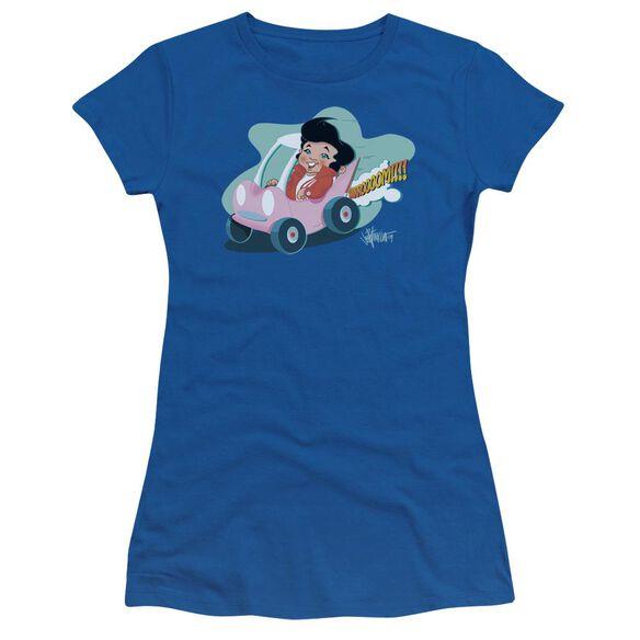 Elvis Speedway Short Sleeve Junior Sheer Royal T-Shirt