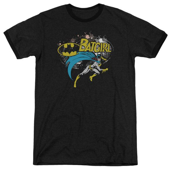 Batman Batgirl Halftone Adult Heather Ringer