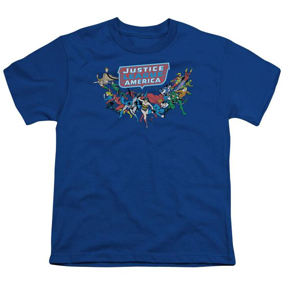 Dc Here They Come Short Sleeve Youth Royal T-Shirt