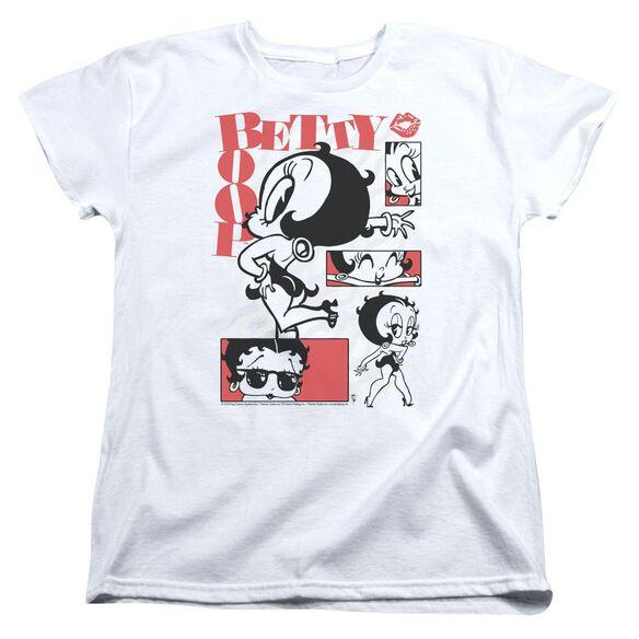 Betty Boop Stylin Snaps Short Sleeve Womens Tee T-Shirt