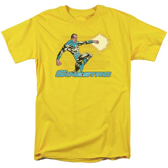 Dc Sinestro Short Sleeve Adult Yellow T-Shirt