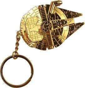 Star Wars Gold Millennium Falcon Keychain