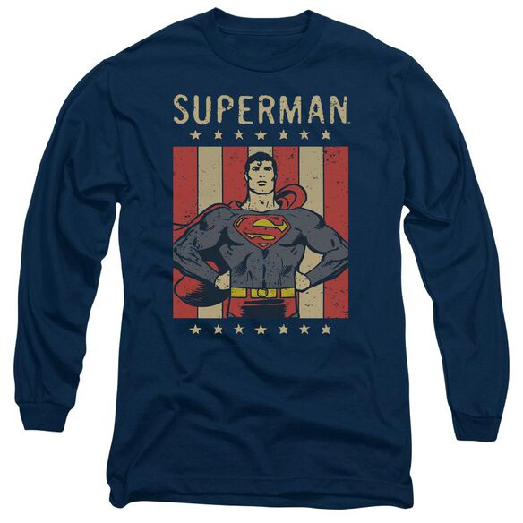 Dc Retro Liberty Long Sleeve Adult T-Shirt
