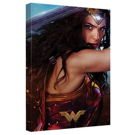 Wonder Woman Movie Poster 2 Canvas Wall Art With Back Board