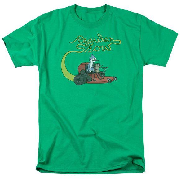 Regular Show Mower Short Sleeve Adult Kelly T-Shirt