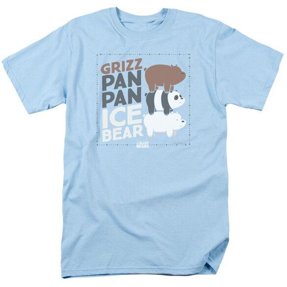 We Bare Bears Grizz Pan Pan Ice Bear Short Sleeve Adult Light T-Shirt