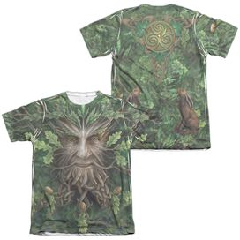 Anne Stokes Oak King (Front Back Print) Adult Poly Cotton Short Sleeve Tee T-Shirt