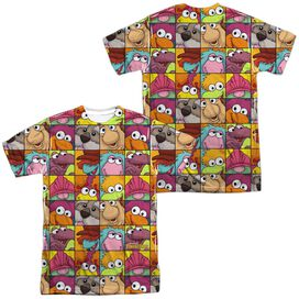 Fraggle Rock Character Squares (Front Back Print) Short Sleeve Adult Poly Crew T-Shirt