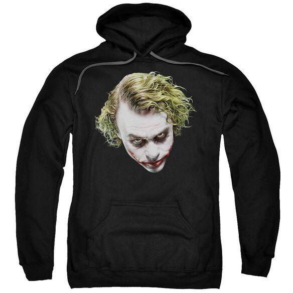 Dark Knight Painted Joker Head Adult Pull Over Hoodie