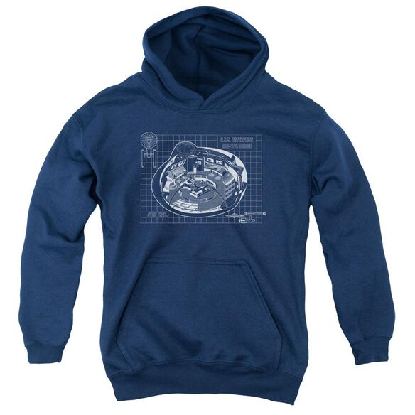 Star Trek Bridge Prints Youth Pull Over Hoodie