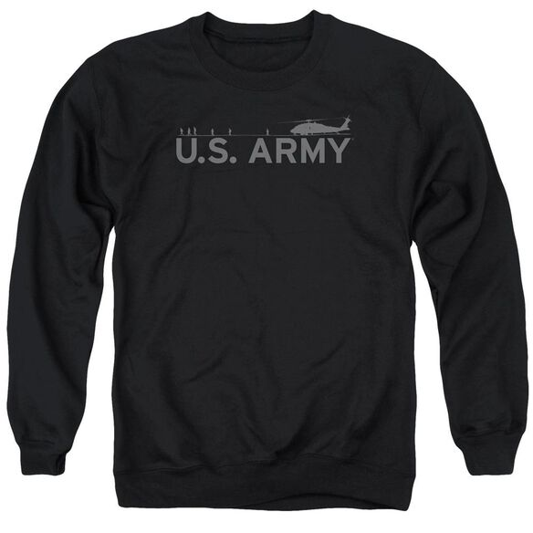 Army Helicopter Adult Crewneck Sweatshirt