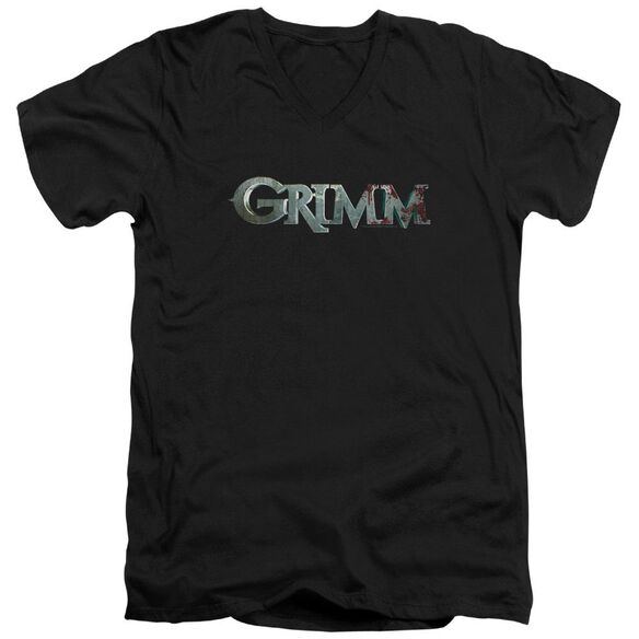 Grimm Bloody Logo Short Sleeve Adult V Neck T-Shirt