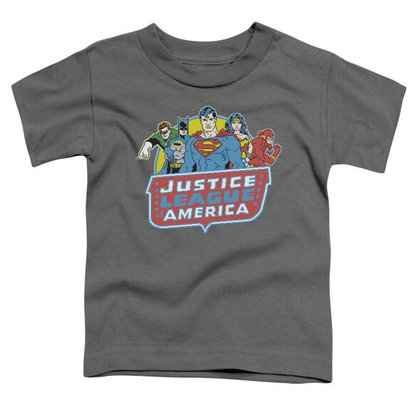 Dc 8 Bit League Short Sleeve Toddler Tee Charcoal Md T-Shirt