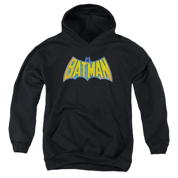 Dco Batman Neon Distress Logo Youth Pull Over Hoodie