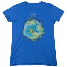 Yes Fragile Cover Short Sleeve Womens Tee Royal T-Shirt