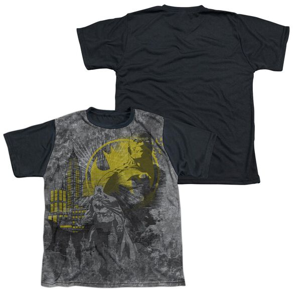 Batman Dark City Short Sleeve Youth Front Black Back T-Shirt