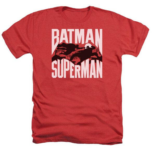Batman Vs Superman Silhouette Fight Adult Heather