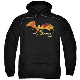 Hobbit Smaug On Fire Adult Pull Over Hoodie