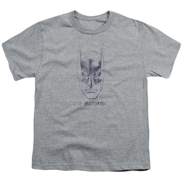 Batman I'm Batman Short Sleeve Youth Athletic T-Shirt