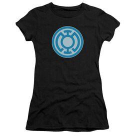 Green Lantern Blue Symbol Short Sleeve Junior Sheer T-Shirt