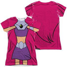 Teen Titans Go Starfire Uniform (Front Back Print) Short Sleeve Junior Poly Crew T-Shirt