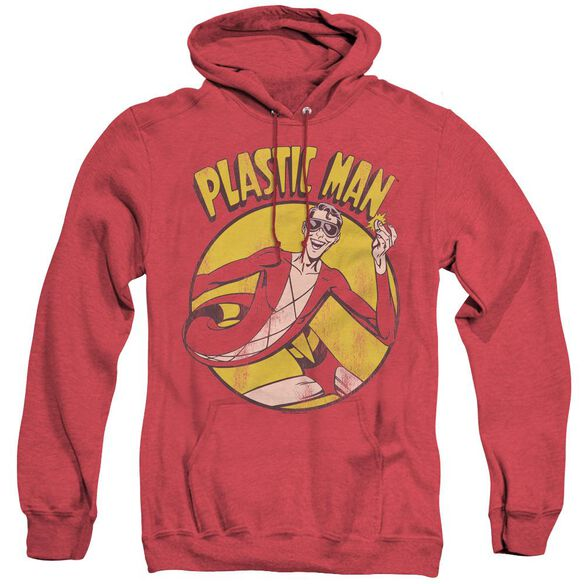 Dc Plastic Man - Adult Heather Hoodie - Red