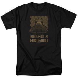 Lord Of The Rings Ishkhaqwi Durugnul Short Sleeve Adult Black T-Shirt