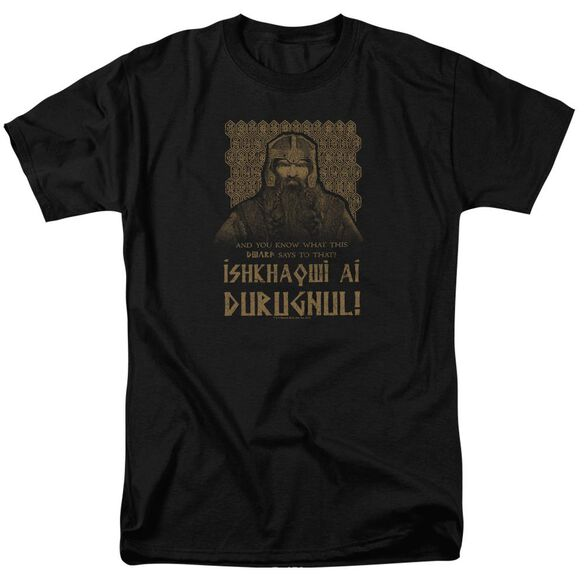 Lord Of The Rings Ishkhaqwi Durugnul Short Sleeve Adult T-Shirt