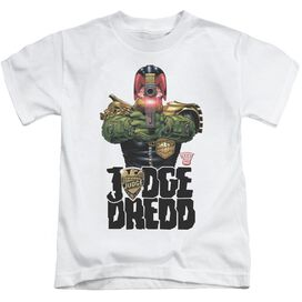 Judge Dredd In My Sights Short Sleeve Juvenile White T-Shirt