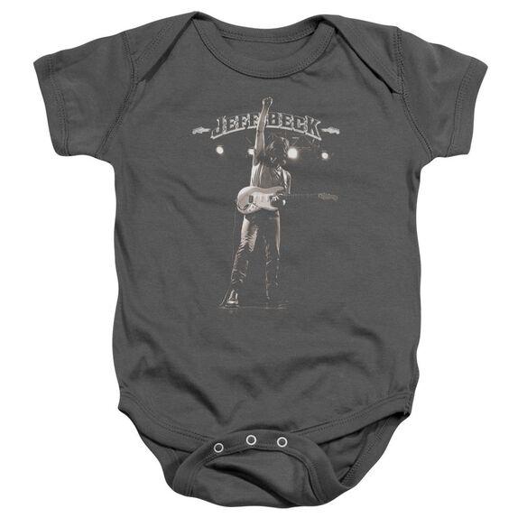 Jeff Beck Guitar God Infant Snapsuit Charcoal