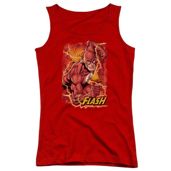 Jla Flash Lightning Juniors Tank Top