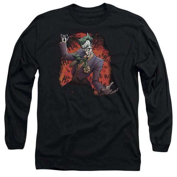 Batman Joker's Ave Long Sleeve Adult T-Shirt