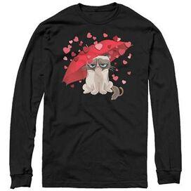 Grumpy Cat Heart Rain Long Sleeve T-Shirt