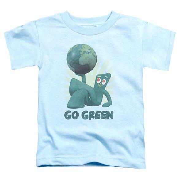 Gumby Go Green Short Sleeve Toddler Tee Light Blue Md T-Shirt