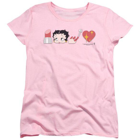 Betty Boop Symbols Short Sleeve Womens Tee T-Shirt