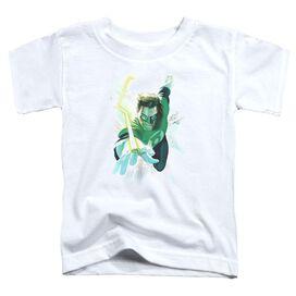 Green Lantern Clouds Short Sleeve Toddler Tee White T-Shirt