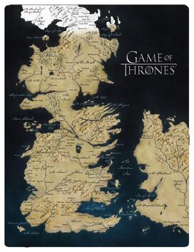 Game of Thrones Map of Westeros Blanket