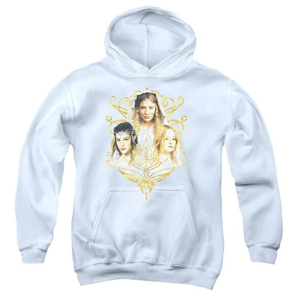 Lor Women Of Middle Earth Youth Pull Over Hoodie