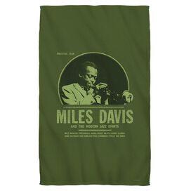 Miles Davis Green Miles Beach Towel