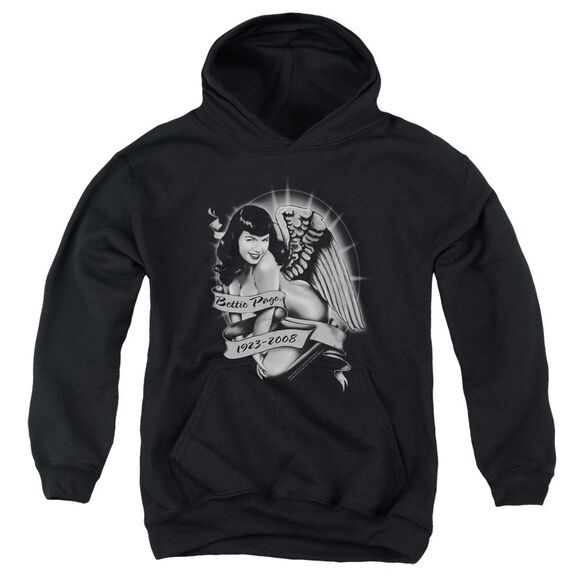 Bettie Page Remember Youth Pull Over Hoodie