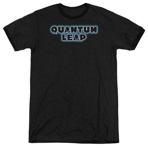 Quantum Leap Logo Adult Heather Ringer