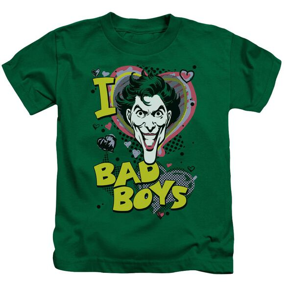 Dc I Heart Bad Boys 2 Short Sleeve Juvenile Kelly Green T-Shirt