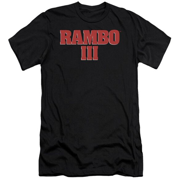 Rambo Iii Logo Short Sleeve Adult T-Shirt